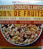 Pépites croustillantes 30% de fruits - Product - fr