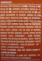 Pépites croustillantes 30% de fruits - Ingredients - fr