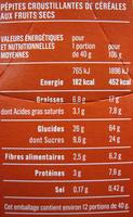 Pépites croustillantes 30% de fruits - Nutrition facts - fr