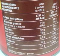 Ravioli Bolognaise au Bœuf - Voedingswaarden - fr