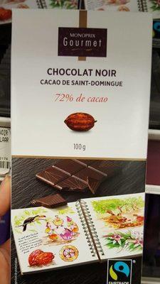 Chocolat noir 72% de cacao Saint-Domingue - Product - fr