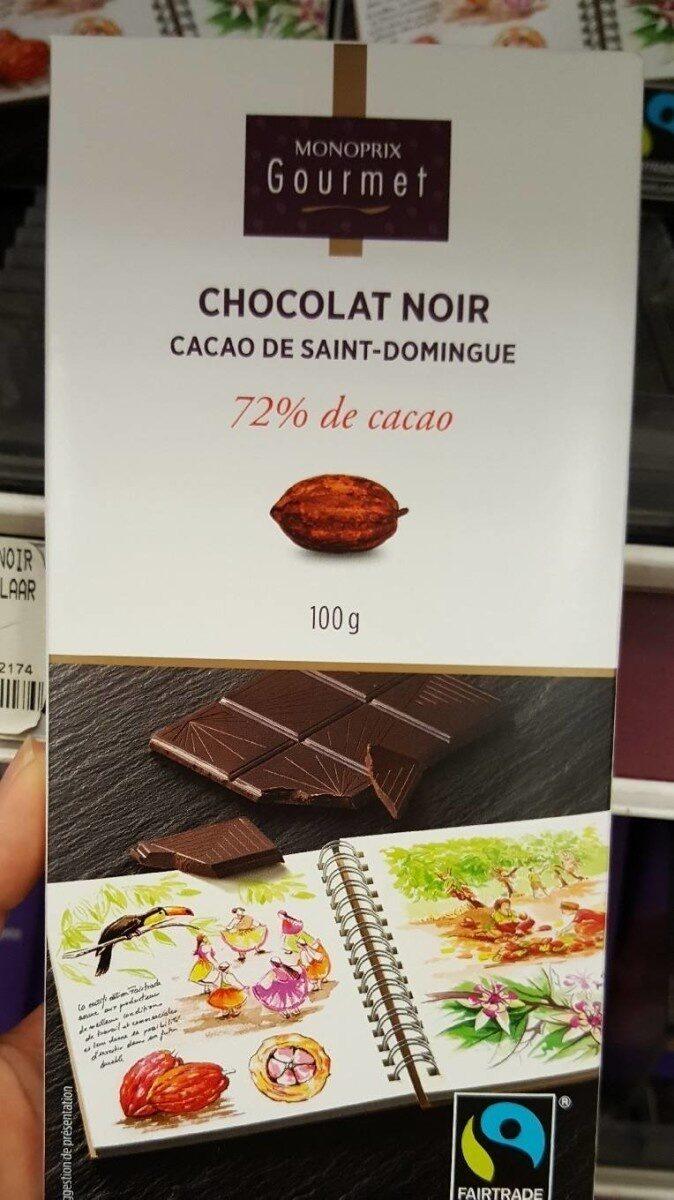 Chocolat noir 72% de cacao Saint-Domingue - 产品 - fr