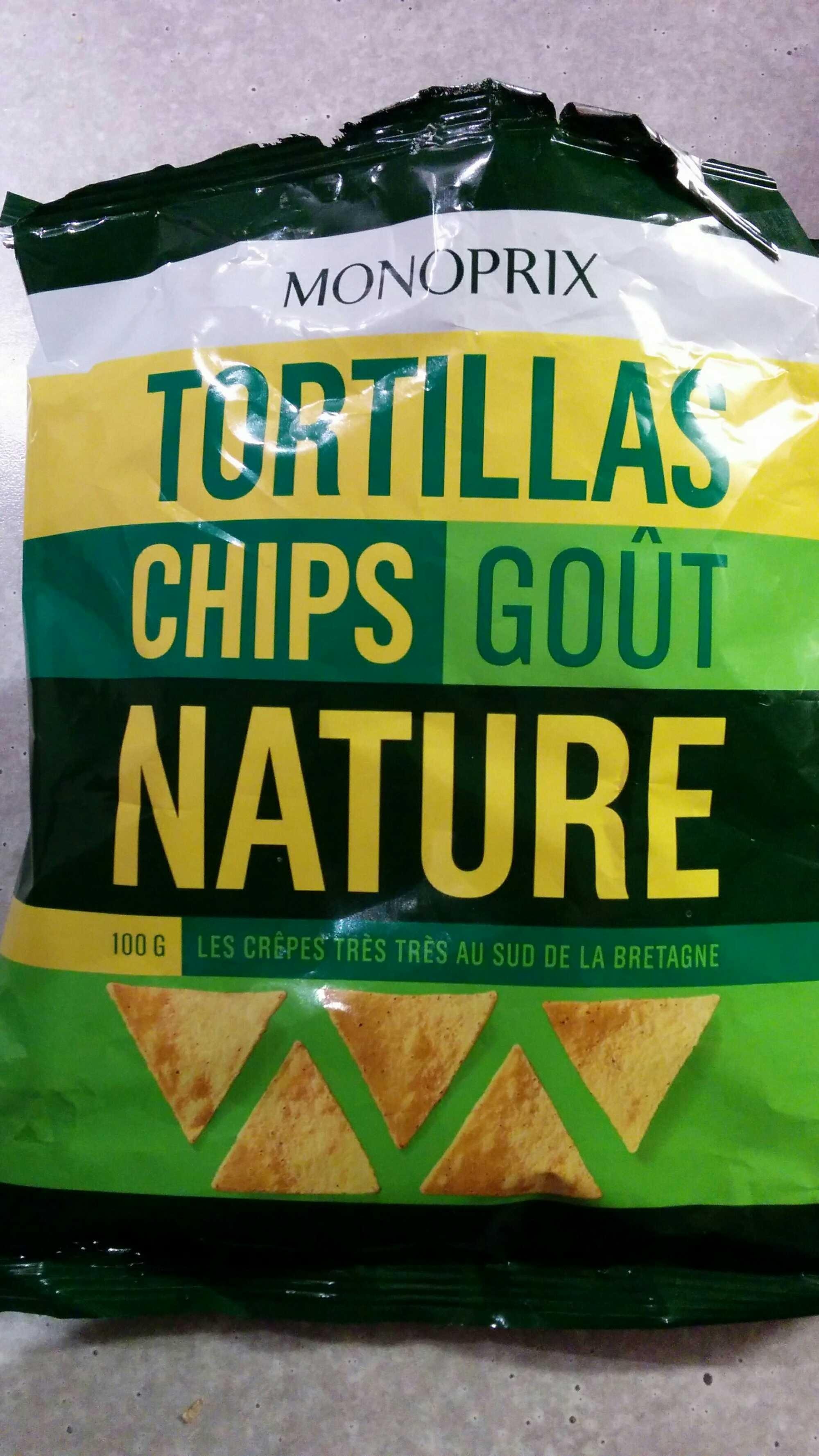 Tortillas chips goût nature - Produit