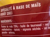 Tortillas Chips goût Chili - Ingrediënten