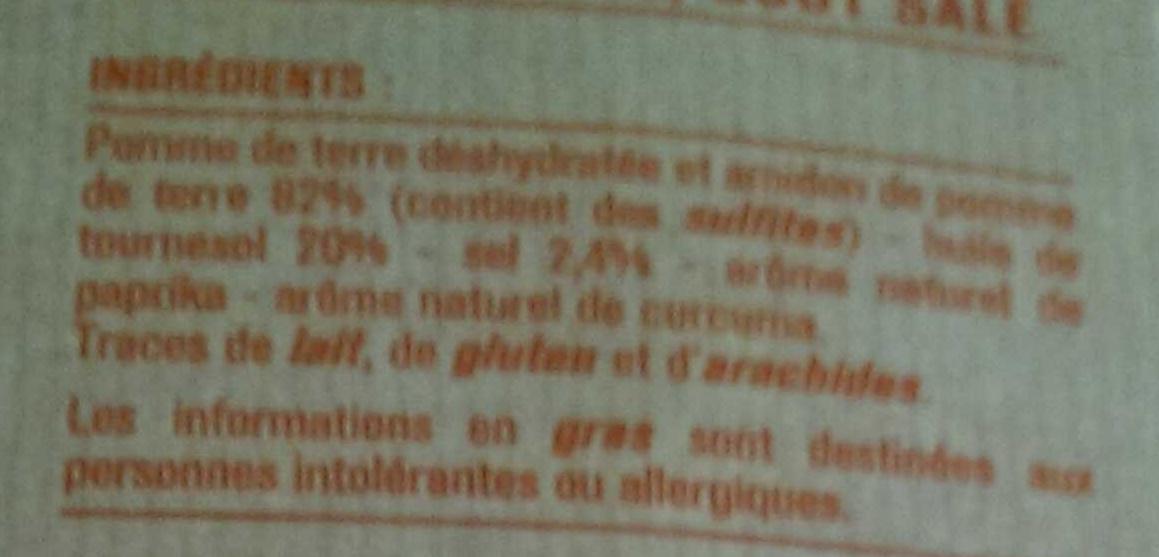 Pétales soufflés croquants - Ingrédients - fr