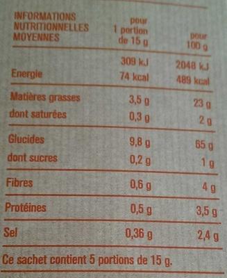 Pétales soufflés croquants - Informations nutritionnelles - fr