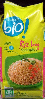 Riz long complet Bio Monoprix - Product - fr