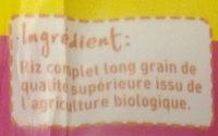 Riz long complet Bio Monoprix - Ingrediënten - fr