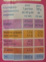 Riz long complet Bio Monoprix - Voedingswaarden - fr