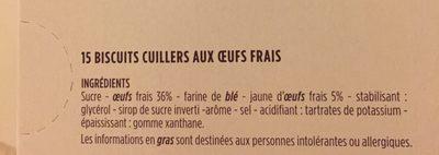 Biscuits à la cuillère - Ingredients - fr