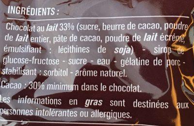 Oursons guimauve fantaisie - Ingrediënten - fr