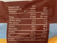 Oursons guimauve fantaisie - Voedingswaarden - fr
