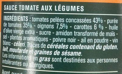 Sauce Tomate Napolitaine - Ingrédients
