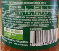 Sauce Tomate Bolognaise - Nutrition facts - fr