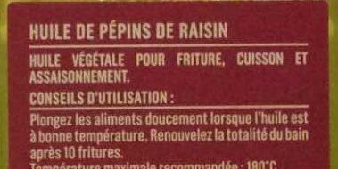 Huile de pépins de raisin - Ingrediënten - fr