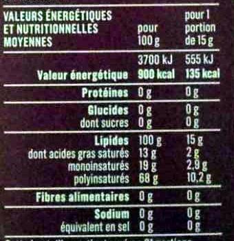 Huile de pépins de raisin - Voedingswaarden - fr