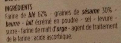 Flûtes fines et croquantes au sésame - Ingrédients - fr