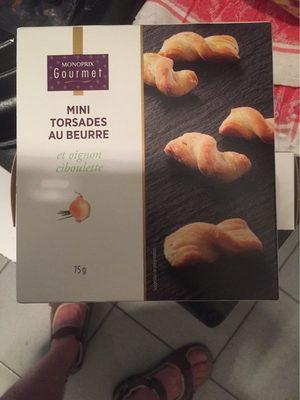 Mini torsades au beurre, oignon et ciboulette - Product