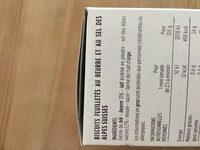 Mini torsades - Au beurre & sel de Guérande - Ingredients