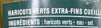 Haricots Verts Extra-Fins 660 g - Ingrédients - fr