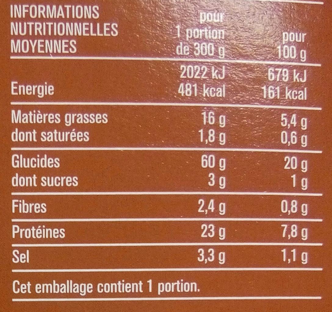 Paella au poulet et fruits de mer - Informations nutritionnelles - fr
