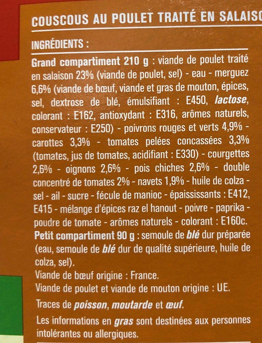 Couscous Royal au poulet et merguez - Ingrédients - fr