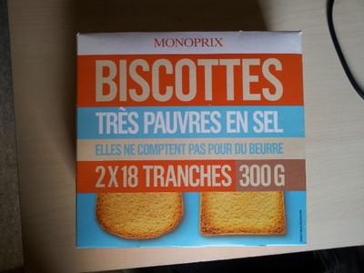 Biscottes très pauvres en sel - 1