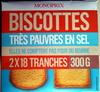 Biscottes très pauvres en sel - Produit