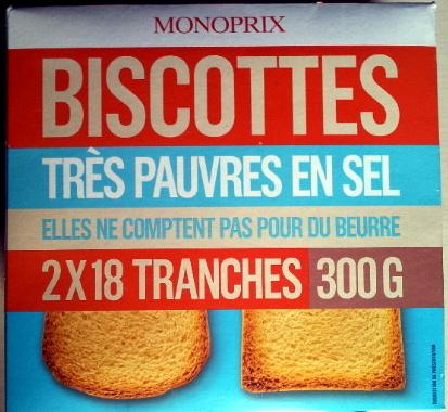 Biscottes très pauvres en sel - Produit - fr