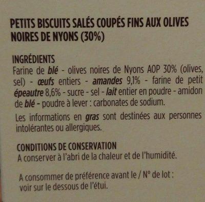 Croquets de Provence - Ingrédients - fr