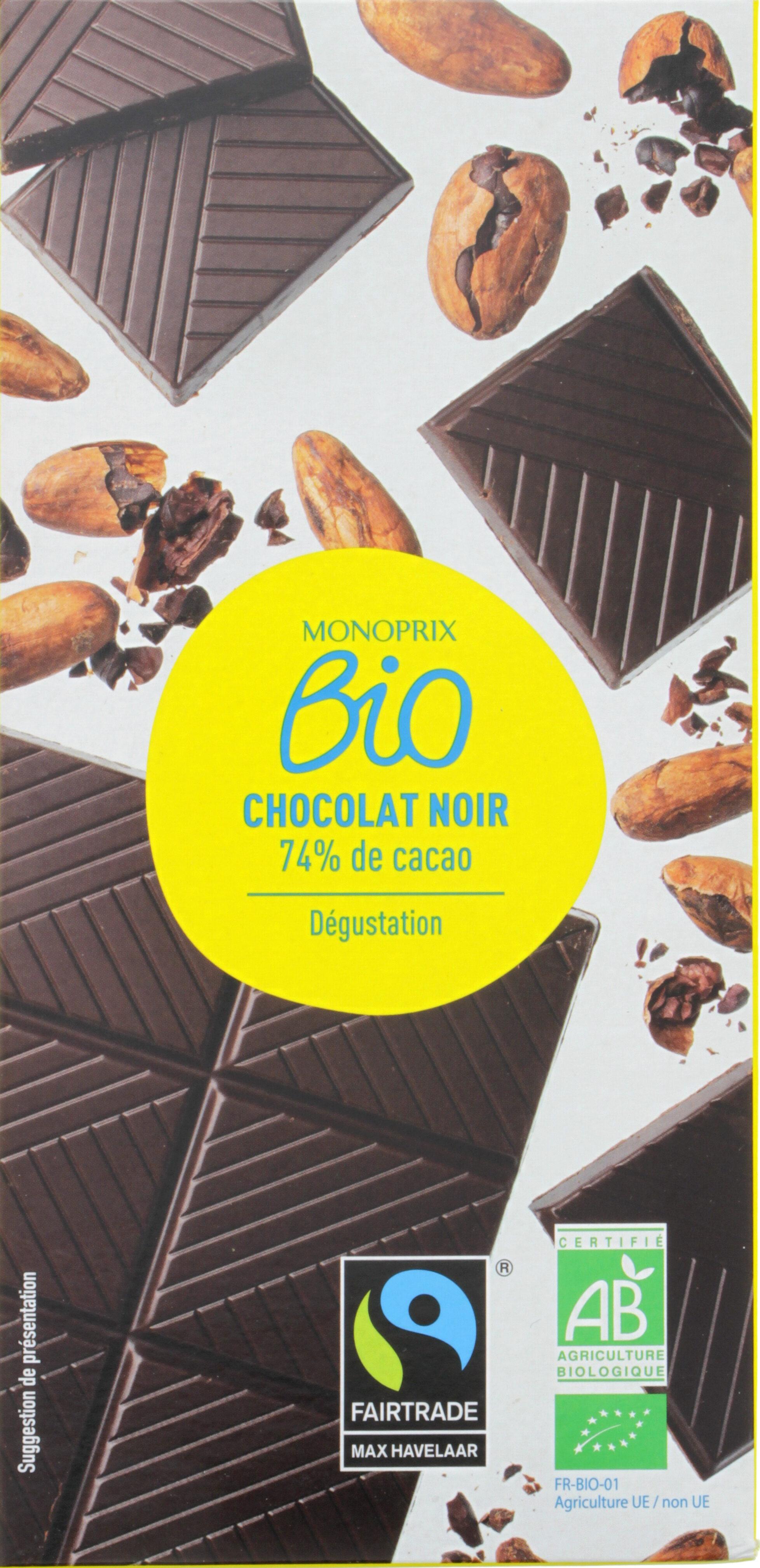 Chocolat Noir 74% bio - Produit - fr