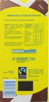 Chocolat Lait - Informations nutritionnelles - fr