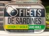 Filets de sardines (citron et basilic, sans huile) - Produit