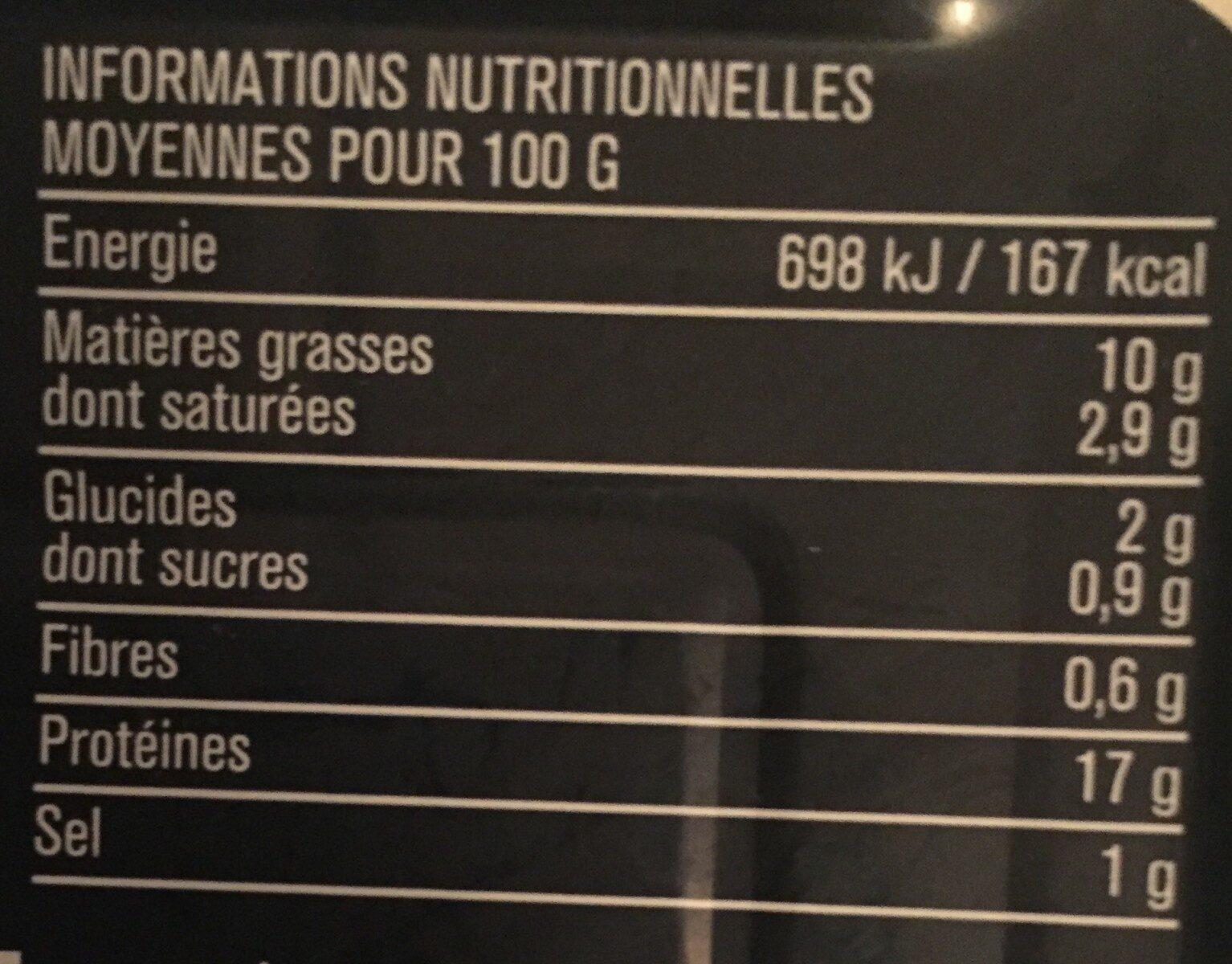 Filets de sardines (citron et basilic, sans huile) - Voedingswaarden - fr