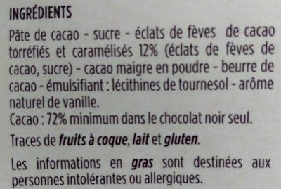 Chocolat noir - Ingrediënten