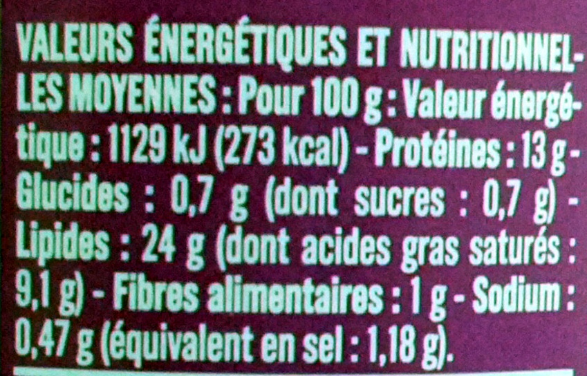 Terrine de canard à l'échalote - Informations nutritionnelles - fr