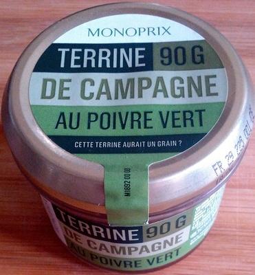 Terrine de campagne au poivre vert - Produit - fr