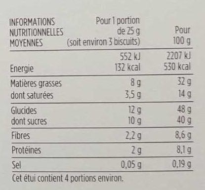 Florentine aux 3 chocolats - Nutrition facts - fr