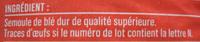 Coquillettes (Al dente 9 min.) - Ingrédients - fr