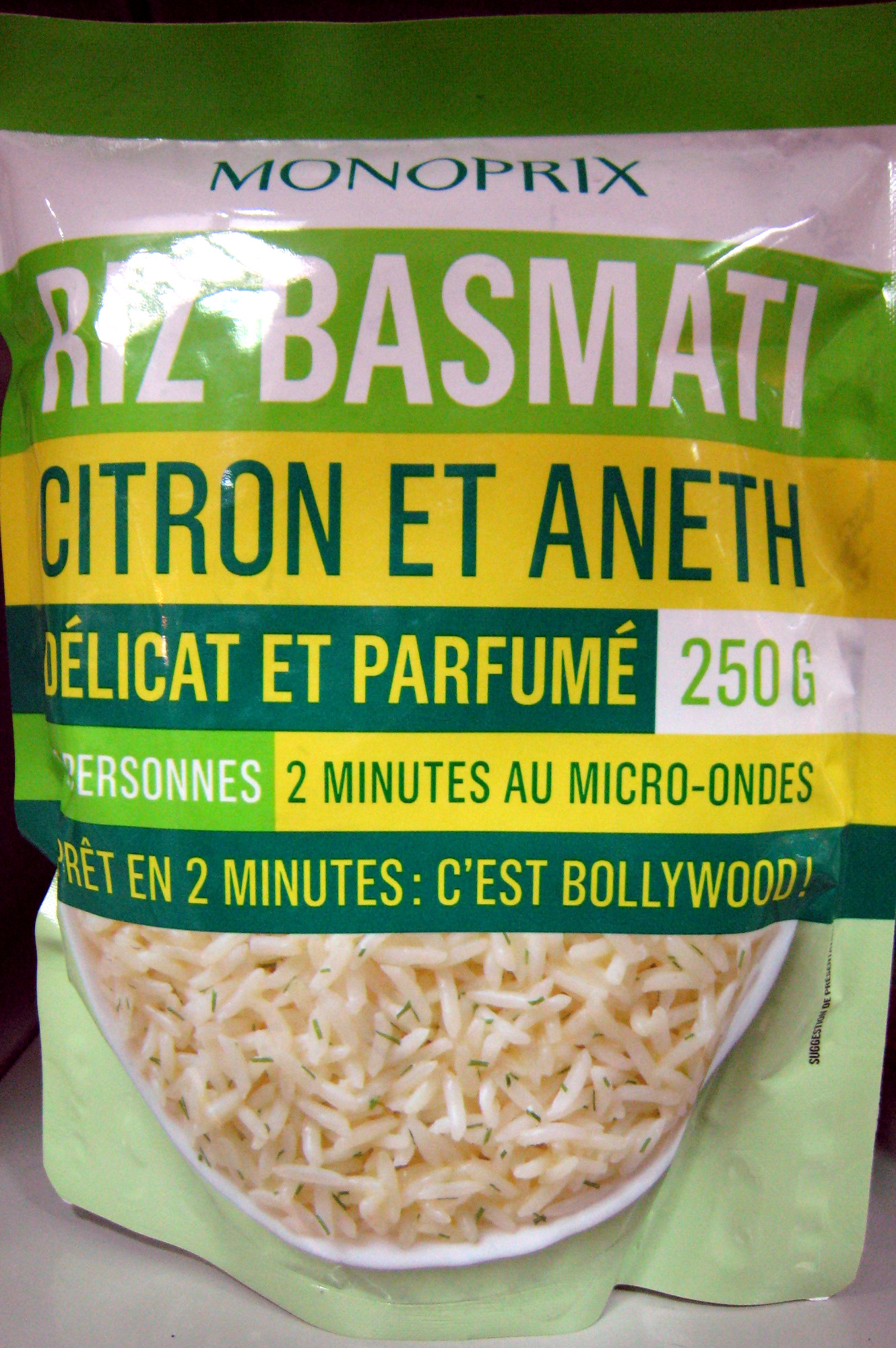 riz basmati citron et aneth monoprix 250 g. Black Bedroom Furniture Sets. Home Design Ideas