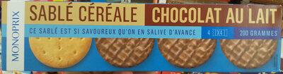 Sablés céréales chocolat au lait - Produit - fr