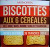 Biscottes aux 6 céréales - Produit