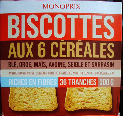 Biscottes aux 6 céréales - Product - fr