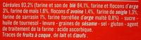 Biscottes aux 6 céréales - Ingredients - fr