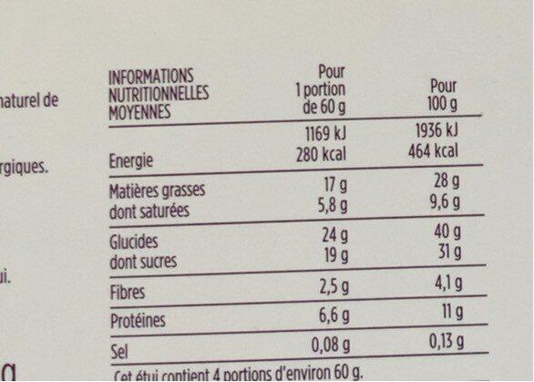 Amandier sans gluten - Voedingswaarden - fr