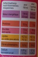 100% Pur Jus Carotte - Informations nutritionnelles