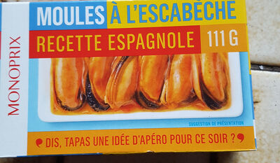 Moules à l'escabèche, recette espagnole - Producto - fr
