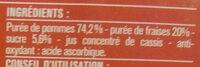 compote allégée pomme fraise - Ingredients