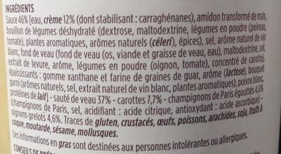 Blanquette sauté de veau et ses 3 légumes - Ingrédients