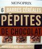 6 Barres céréales Pépites de chocolat Monoprix - Product